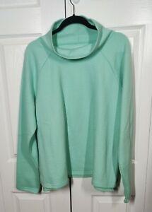 Tek Gear Women's Sweatshirt Size XL (48) Textured  Mock Neck Mint Green NWOT