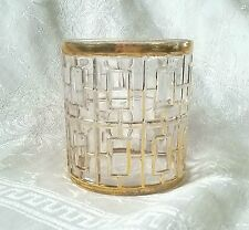 VTG Imperial Glass Shoji Trellis 22KT Gold Rocks Lowball Old Fashioned Tumbler