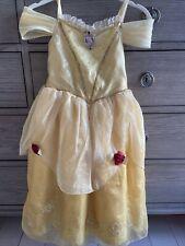 Disney Store Princess Belle Yellow Dress 5/6