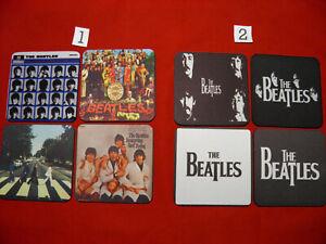 4 x Neoprene Drink Coasters 10cm x 10cm The Beatles (YOUR DESIGN OR LOGO )