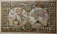 Very Rare World Map World Map Orbis Terrarum Pietro Death Ski Franc Sabatini 1669