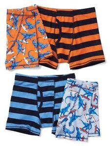 New Gap Kids Boys 4 Pack Boxer Briefs Underwear 4 5 12 year Dinosaurs Stripes