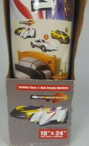 2 Speed Racer Mach 5 Peel Stick Giant room Wall Decal Toy Hobby Vehicle Hasbro