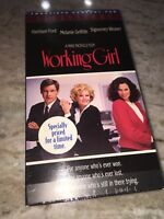 WORKING GIRL, VHS, 1989 CBS FOX, MELANIE GRIFFITH, HARRISON FORD