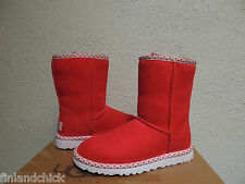 UGG RED HOT CLASSIC SHORT HEARTS SHEEPSKIN BOOTS, US 5/ EUR 36/ UK 3.5  ~NEW