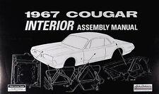 1967 Mercury Cougar Interior Assembly Manual 67 Door Panels Trunk Seats Belts