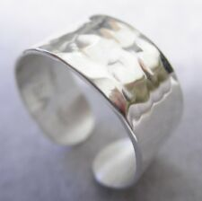 """Sterling Silver HammeredToe Ring New,Hand made 1/4"""" width solid/Vartani /Usa"""