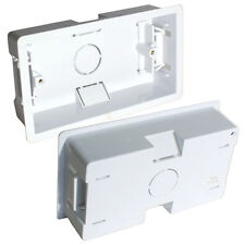 QTY 10 - 35mm DOUBLE/TWIN PLASTIC DRY LINING BACK BOX - 2 GANG WALL PATTRESS UK