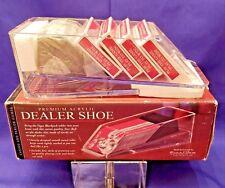 Four-Deck Dealer Shoe Premium Acrylic by Excalibur Electronics model 429