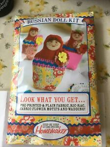 Russian Doll Sewing Kit With Printed Templates & Needles