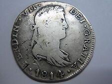 1814 GUADALAXARA 4 REAL FERDINAND VII MEXICO SPANISH COLONIAL SPAIN SILVER COIN