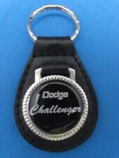 DODGE CHALLENGER BLACK LEATHER KEYRING KEYFOB #195