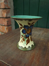 Vintage ROYAL ZUID HOLLAND GOUDA VASE DECORATED WITH FLOWERS No 2844
