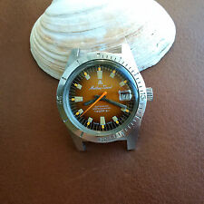 Vintage Mathey-Tissot Mergulhador UHF Divers Watch w/Pristine Dial,All SS Case