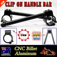 CNC 37MM Universal Black Regular Clip Ons Fork Handle Bars Handlebar Motorcycle
