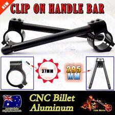 Black 37mm Fork Clip On Handle Bar Fit Kawasaki EX500 1994-2002 / SUZUKI GS500