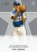 """RYAN HAGENOW 2019 LEAF PERFECT GAME """"LIMITED EDITION"""" ROOKIE CARD!"""