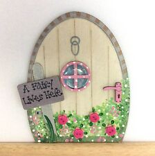 Handpainted Fairy Door - Elves Pixie Tooth Fairy Gift Skirting Board Decor