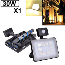 LED Flood Light 30W Motion Sensor Security Outdoor Lighting Warm White Spotlight