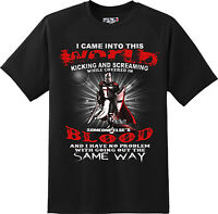 Came in to  this world Patriotic Freedom American T Shirt  New Graphic Tee