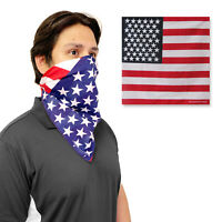1 Dozen Pack USA American Flag Bandanas 100% Cotton Head Wrap Scarf Patriotic