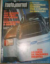 L'auto-journal N° 6 1981 Citroën Visa II Super E BMW 535i Salon de Genève Auto