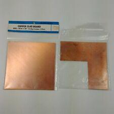 """2 Archer 276-1587 6 x 6 x 1/16"""" Single Sided Copper Clad Board Radioshack"""
