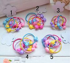 20Pcs Girls Kids Baby Bear Hair Bands Elastic Ponytail Tie Hairband Bobbles
