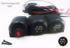 Covered 12V Battery Bank Voltmeter Monitor RV Marine House Starting Wired Switch