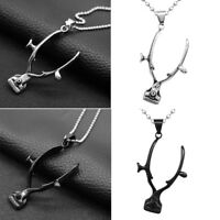 Punk Rock Barber Clippers Pendant Necklace for Women Men Costume Jewellery