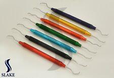 NEW Hollow MULTI COLOUR 7 Piece Gracey Curette Set Dental Surgical Instruments