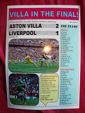 Aston Villa 2 Liverpool 1 - 2015 FA Cup semi-final - souvenir print