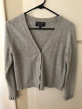 Banana Republic Women's Very Fine Italian Viscose Grey Cardigan Size M