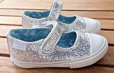 Primigi NIB  Silver Sparkle Mary Jane Sneakers  Little Girls Size  7 M  / Eur 23