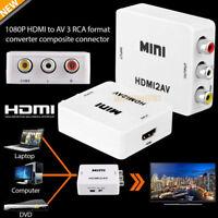 Mini HD Video Converter Box HDMI to RCA AV/CVSB L/R 1080P HDMI2AV Adapter HDTV