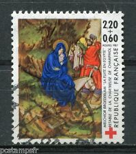 FRANCE 1987, timbre 2498, CROIX ROUGE VIERGE, oblitéré, RED CROSS, VF used STAMP