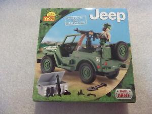 COBI, Set, Willis Jeep, mit Maschinengewehr,  24090, neu und ungeöffnet