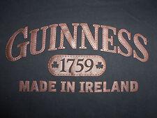 """Guinness Irish Beer """"Made In Ireland"""" Black Graphic Print T Shirt - M"""