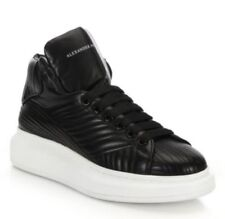 New Alexander McQueen $680 Quilted Leather High-Top Sneakers,Black Size EU39 (6)