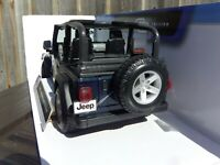 Maisto 1:18 Jeep Wrangler Rubicon Blue American SUV Diecast Model Car Toy 4x4