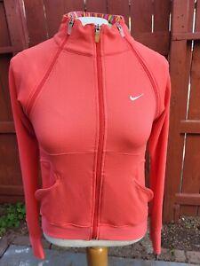 Nike Womens Jacket Sphere Long Sleeve Coral Color Full Zip Sz S