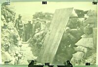 "Large WWI Era Military Photo Italy Italian Army Advanced Post Trench 11"" x 17"""