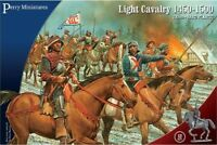 PERRY MINIATURES 28mm War of the Roses Mounted Light Cavalry 12 Figures Flags