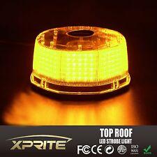Amber Yellow 240 LEDs Light Bar Roof Top Emergency Beacon Warning Flash Strobe