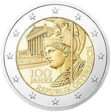 2 euro Austria 2018 Centenario fondazione della Repubblica d'Austria