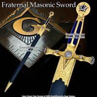 "29 "" Fraternal Masonic Sword Templar Knight Freemasonry with Scabbard"