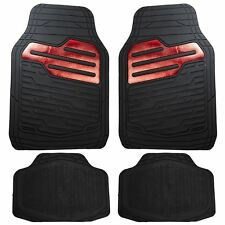 Heavy Duty Rubber Floor Mats Set with Red for BMW Mini Cooper Clubman Paceman