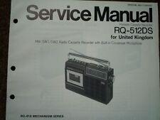 Panasonic RQ-512DS RADIO REGISTRATORE A CASSETTE MANUALE SERVIZIO diagramma di cablaggio parti