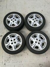 """Mazda MX5 MK1 ENKEI 15"""" Alloy Wheels 15X6JJ with tyres."""