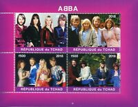 Chad Music Stamps 2018 MNH ABBA Popstars Pop Stars Celebrities 4v M/S